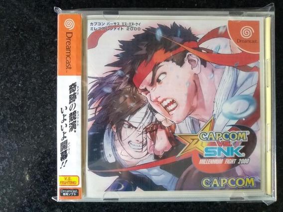 Capcom Vs Snk Japonês Para O Dreamcast (completo//spinecard)