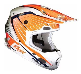 Casco Jt Racing Als 2.0 Naranja Motocross No Fox