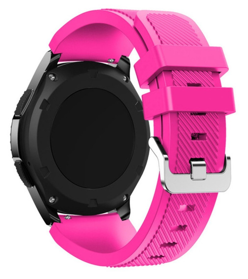 Pulseira De Silicone Para Samsung Galaxy Gear S3 - Rosa
