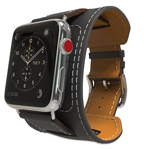 Moko Correa De Piel Original Para Apple Watch Negro