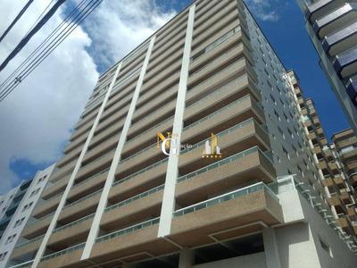 Apartamento De 3 Dormitórios Com Varanda Gourmet E Vista Mar A 100 M Da Praia Na Guilhermina - Ap2007
