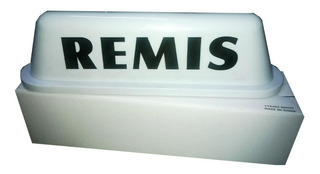 Cartel Remis Techo Luz Base Imantada Luminosa 12v Blanco