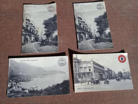 Postal Postales El Cairo Berlin Cassini Lago Di Como
