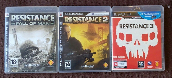 Resistance Fall Of Man + Resistance 2 +resistance 3 Para Ps3