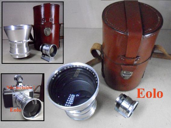 Lente Telinear 130mm F4+visor P/ Agfa Ambi Silette * Leica &