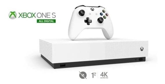 Xbox Vídeo Game Novo X Box One S Digital 1tb 4k Ultra Branco