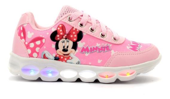 Tênis Infantil De Led Tema Minnie