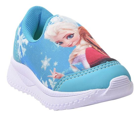 Tênis Infantil Feminino Frozen Sem Cadarço.