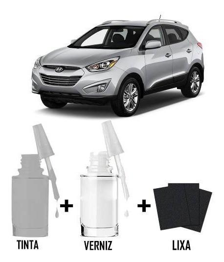 Tinta Tira Risco Automotiva Hyundai Tucson Prata