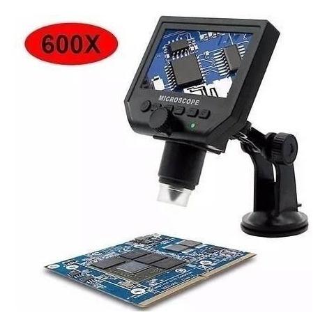 Microscópio Digital Portátil Tela Display Hd 4.3 600x 3,6mp