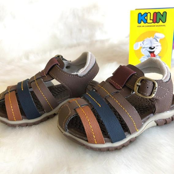 Sandalia Chique Menino Infantil Klin - 16540