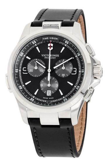 Relógio Masculino Victorinox 241785 Pulseira De Couro