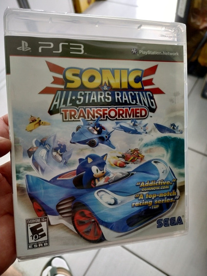 Sonic All Stars Racing Transformed Ps3 Mídia Física Lacrada