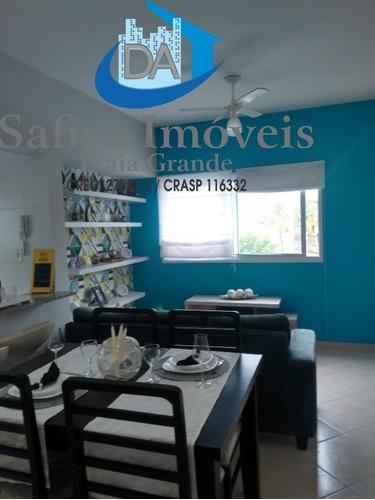 Excelente Apartamento Mobiliado, Em Prédio Frente Praia, Com Vista Da Sacada Para O Mar No Solemar. Localização Privilegiada, Tranquila E Agradável. T - Ap00875 - 68686269