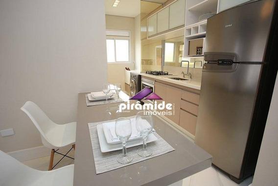Apartamento Com 1 Dormitório À Venda, 35 M² Por R$ 276.889 - Jardim Aquarius - São José Dos Campos/sp - Ap10915