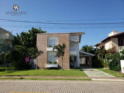 Casa Com 4 Dormitórios À Venda, 350 M² Por R$ 1.400.000 - Alphaville Fortaleza - Ca0133