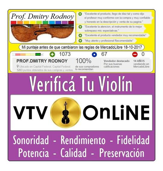 Vtv X Fotos Luthier Verifica Tu Violín - Prof. Dmitry Rodnoy