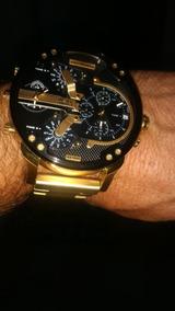 Relógio Diesel Foleado A Ouro 18