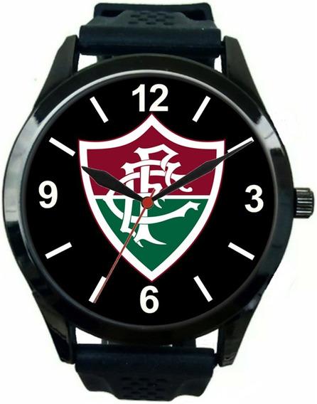 Relógio Pulso Fluminense Oferta Promoção Masculino Esportivo