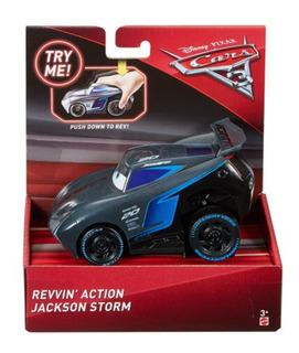 Cars 3 - Jackson Storm - Friccion - Empuja Y Sale - Mattel