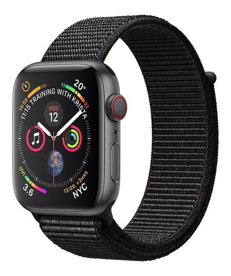 Apple Watch Series 4 Gps - 40mm - Caixa Cinza-espacial De Alumínio Com Pulseira Esportiva Preta