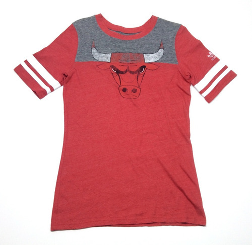 Remera Manga Corta adidas Chicago Bulls Mujer Talle M