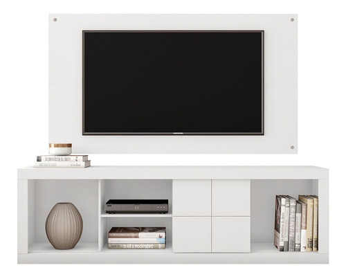 Rack E Painel Para Tv Até 65 Polegadas Cedro Branco - Caemmu