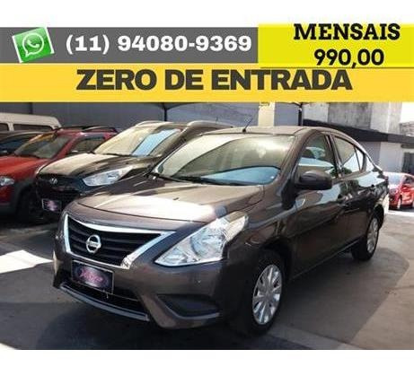 Nissan Versa 1.0 12v Conforto 4p 2018 2019  Zero De Entrada