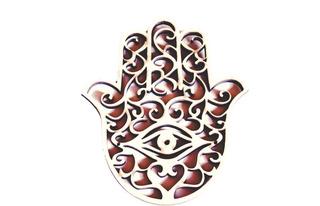 10 Mão Hamsa Olho Grego Arabesco Mdf Lembrancinhas Esotérico