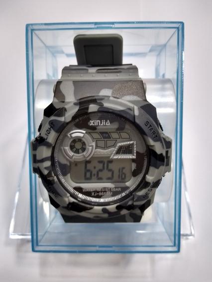 Relógio Masculino Xinjia Camuflado Cinza