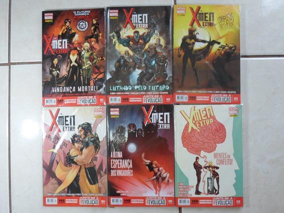 X-men Extra Nova Marvel 1 A 5 E 10 Panini Lote Com 6 Hqs