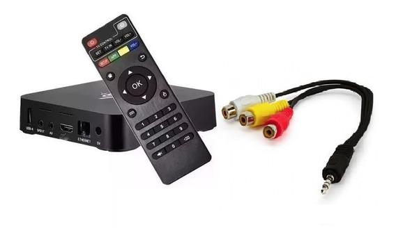 Conversor Transforma Tv De Tubo Em Tv Smart + Cabo P2