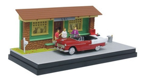 Chevy Bel Air 1955 Frat House Diorama 1:43 Motor Max