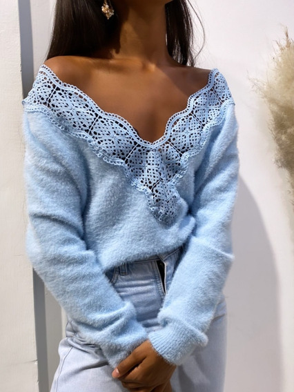 Sweater Mujer Con Brodery