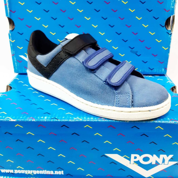 Zapatillas Pony Il Velcro Cvs Cementado Azul