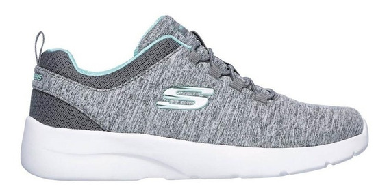 Skechers Zapatillas Running Mujer Dynamight 2.0 Gris - Verde