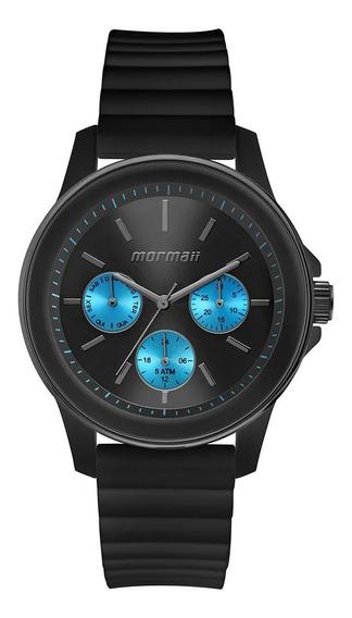 Relógio Mormaii Luau Unissex Grafite E Azul Mo6p29am/8a