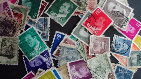 Estampillas De España - 100 Sellos Diferentes Sin Papel