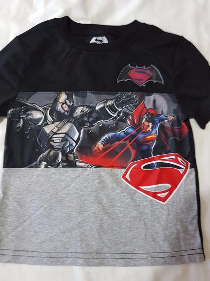 Playera Superman Vs Batman Niño, Original Dc Comics