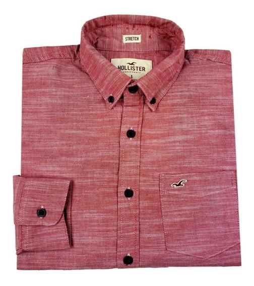 Camisa Manga Longa Hollister Rosa