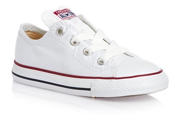 Zapatillas Converse All Star Chuck Taylor Bebe Niño Blancas