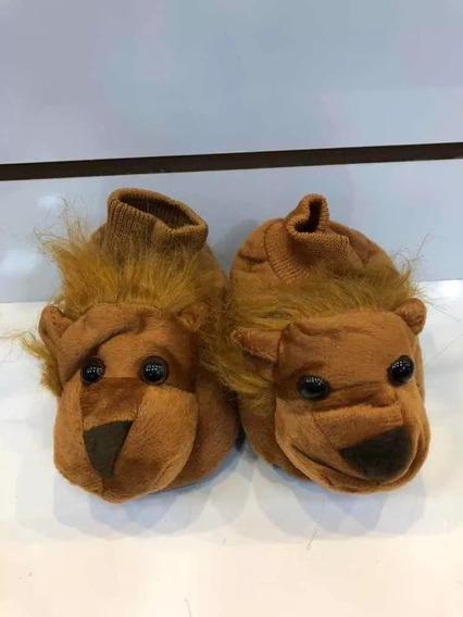 Pantufa De Frio Para Bebe Infantil Criança Bichinho Leão