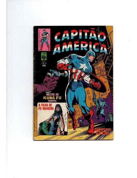 Capitão América Nº 10 Com Pôster Editora Abril 1980