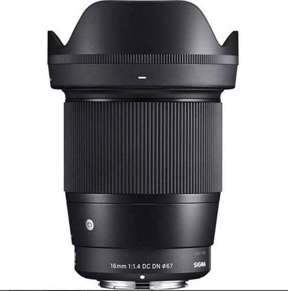Lente Sigma 16mm F 1.4 P/sony E-mount Envio Imediato