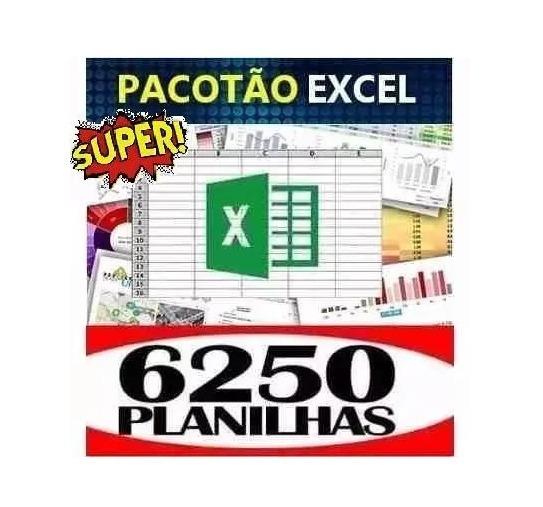 6250 Planilhas Excel Editáveis Frete Grátis Por Download