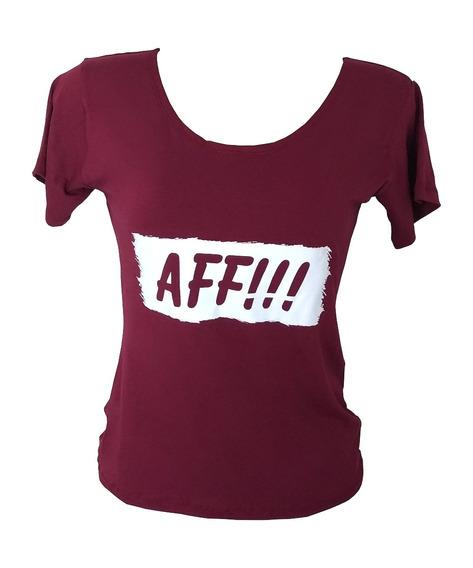 Camiseta T-shirt Viscolycra Frases Aff