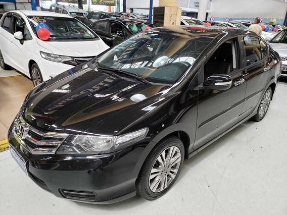 Honda City 1.5 Ex Automático 2013 Preto (banco De Couro)