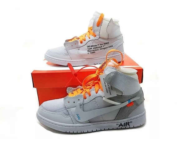 Tênis Botinha Jordan 1 Off White Hype Outfit 12x Sem Juros