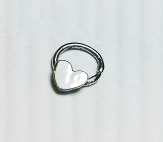 Piercing Septum Corazon Plata 925 A Pedido Exclusivamente