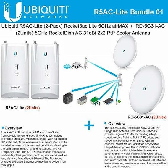 Access Point Ubiquiti R5ac-lite Rocket5ac Lite 2-pack+ Rd- ®